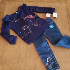 NWT Carter's sweater and jean set